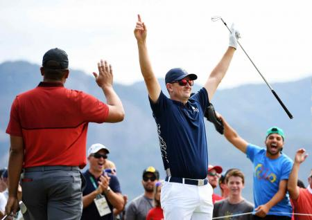 Justin Rose's first hole in one for the Olympics