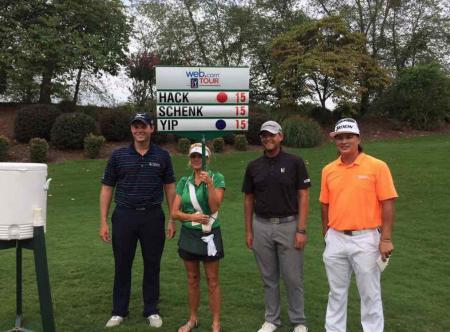 Hack, Schenk and Yip tee it up