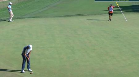 Strewth! Jason Day holes a monster!!!