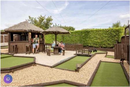 Garden transformed into crazy golf course