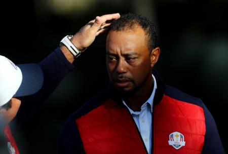 Tiger Woods Ryder Cup Photobomb