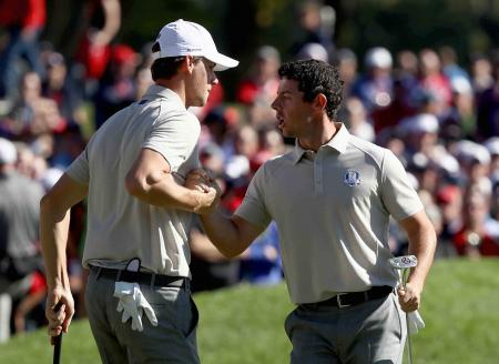Thomas Pieters & Rory McIlroy