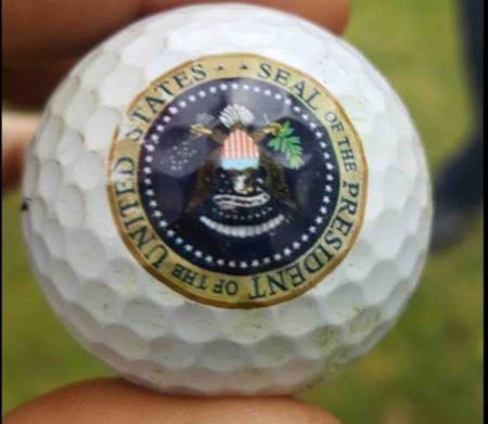 Irish golfer discovers Bill Clinton's golf ball