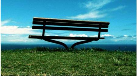 Police officer demoted for stealing golf club bench