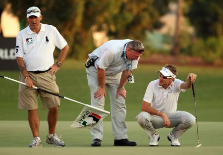 Ian Poulter, penalty shot, 4th round Dubai World Golf Championship