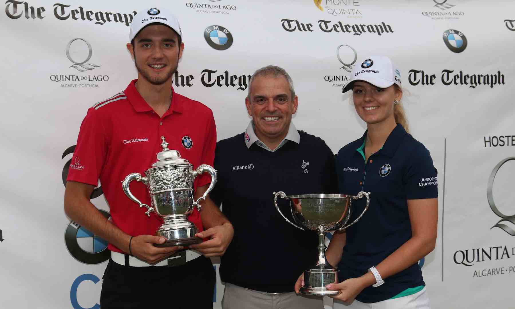 Paul McGinley honours Top junior golfers