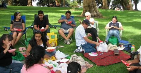 Picnic makers and soccer players ruin golf course