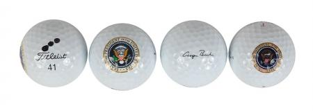 George Bush's presidential golf equipment sells for $30,000!