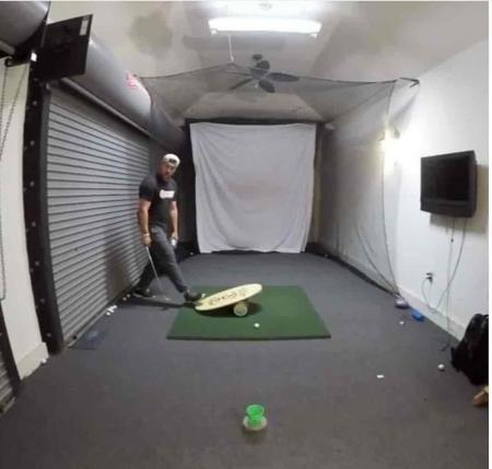 Bottle flip challenge golf style