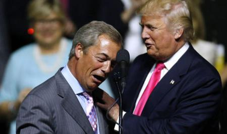 Trump & Farage to stop windfarms 'ruining golf'