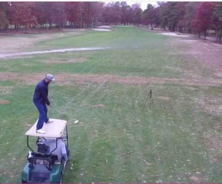 The golf cart trick shot