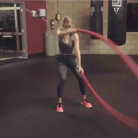 New Paige Spiranac work out video