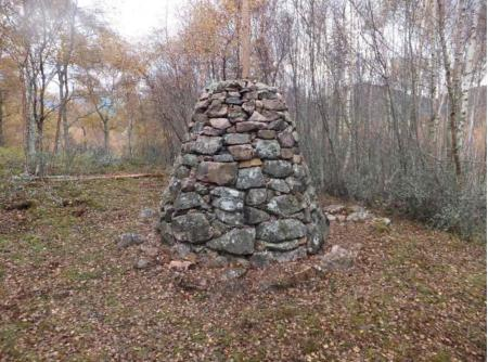 A mystery cairn has been discovered on a golf course