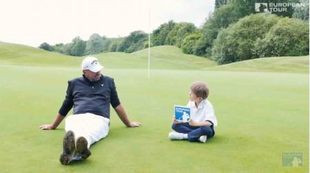 Little Billy interviews Thomas Bjorn