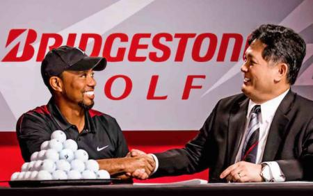 Breaking news: Tiger signs with Bridgestone