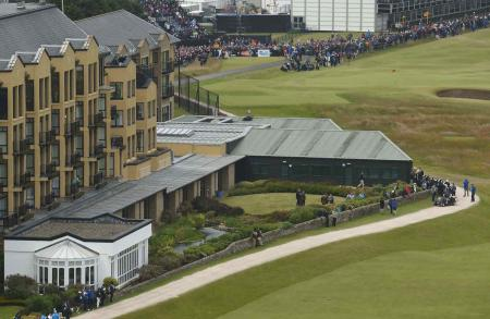 New rubber roof for Old Course Hotel