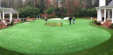 Putting maestro Dave's new artificial green