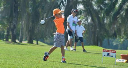 312 kid golfers from 26 countries battle it out
