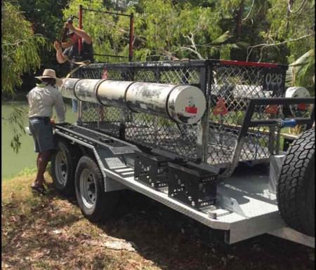 Crocodile trap set on Oz golf course