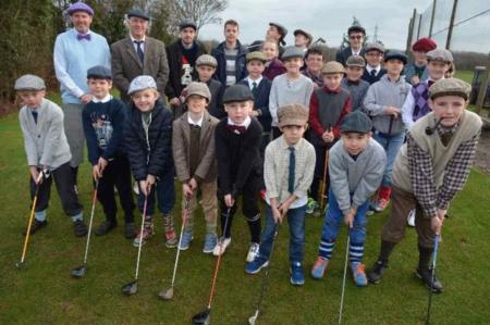 Junior golfers celebrate Young Tom Morris