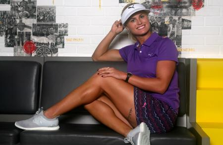 Carly Booth signs for Cobra PUMA