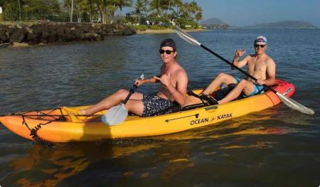 Smylie and Jordan go fishing in Hawaii
