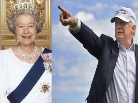 Trump calls out The Queen for a game of golf