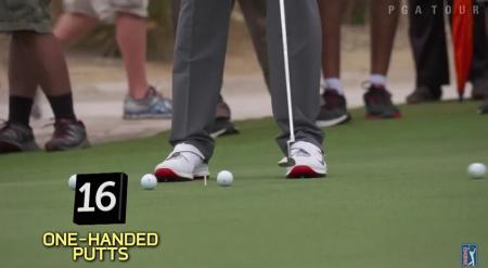 Check out Tiger's pre-round practice routine