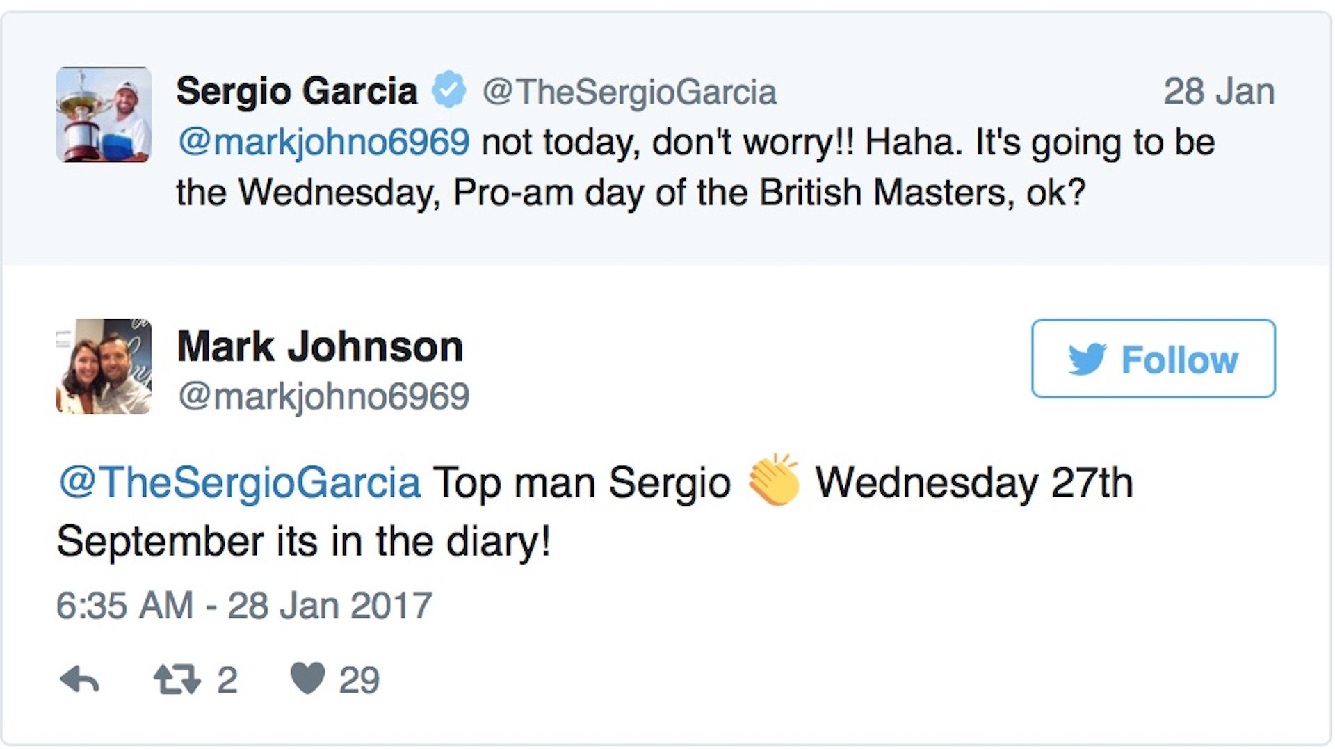 Persistence pays for Sergio fan