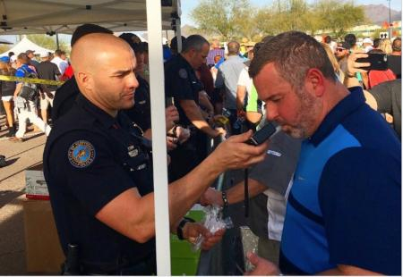 Breathalysers at the Phoenix Open