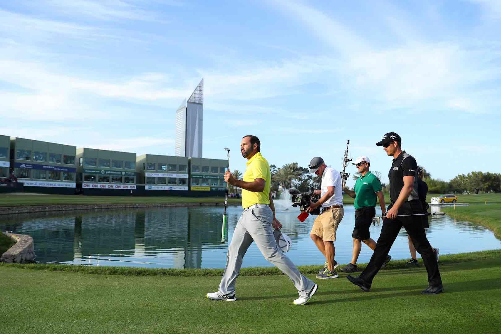 Sergio Garcia wins the Dubai Desert Classic