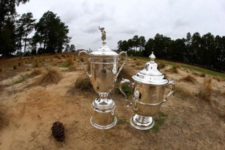 US Open trophies mens and womens