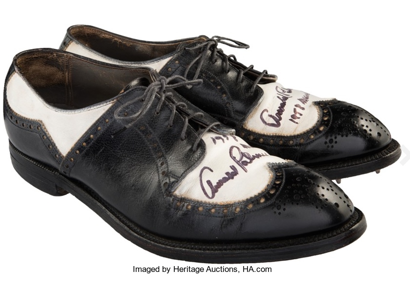 £15,000 for Arnold Palmer's Masters shoes