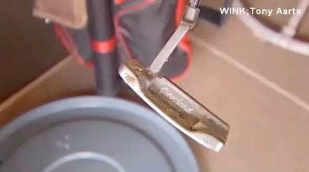 Man fights off alligator with putter