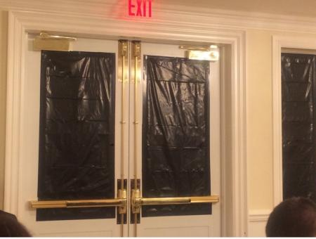 Trump blacks out windows