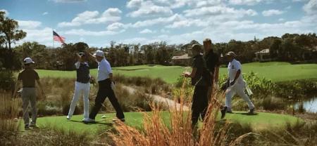 High fives all round as Trump takes on Shinzo Abe