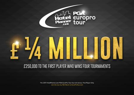 £250K bonus on offer at EuroPro Tour