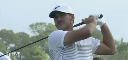 Brooks Koepka breaks club in two