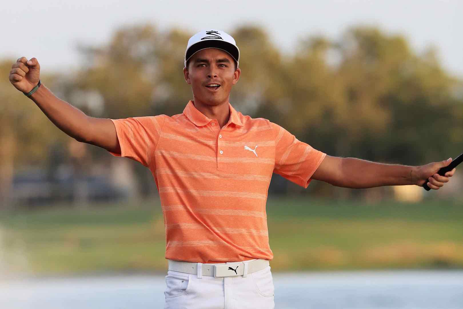 Rickie Fowler and Justin Thomas have putting competitions with Tiger Woods