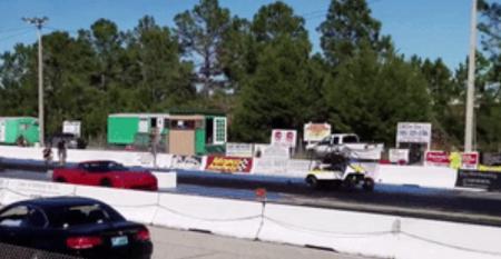 Golf cart drag racing