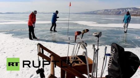 Ice golf in Siberia