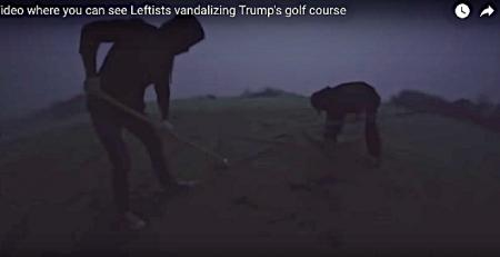 Watch! Environmentalists attack Trump course