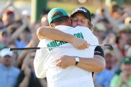 Phil Mickelson and Bones split