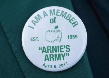 Arnie's Army commemorative badges