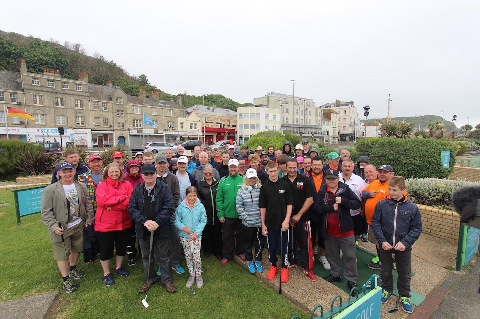 Mini Golf competitors at the World Crazy Golf Championships