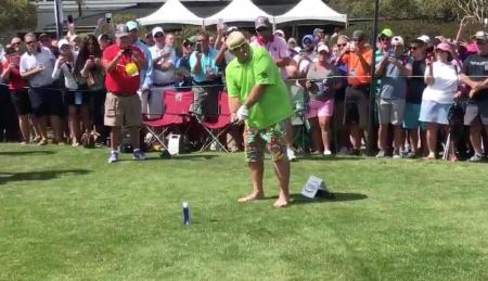 John Daly tees it up