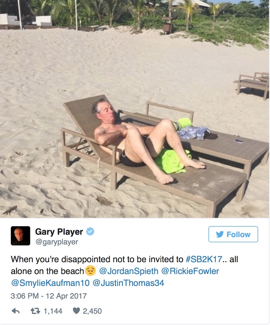 Gary Player is all lonesome