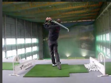 Two handed trick shot