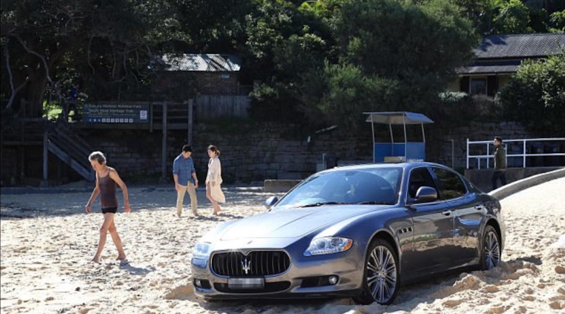 Man beaches his Maserati