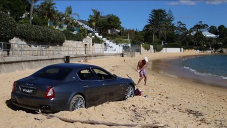 Man beaches his Maserati